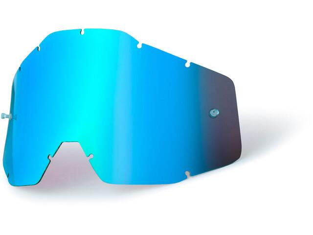 100% Wechselglas Jugend blue / mirror